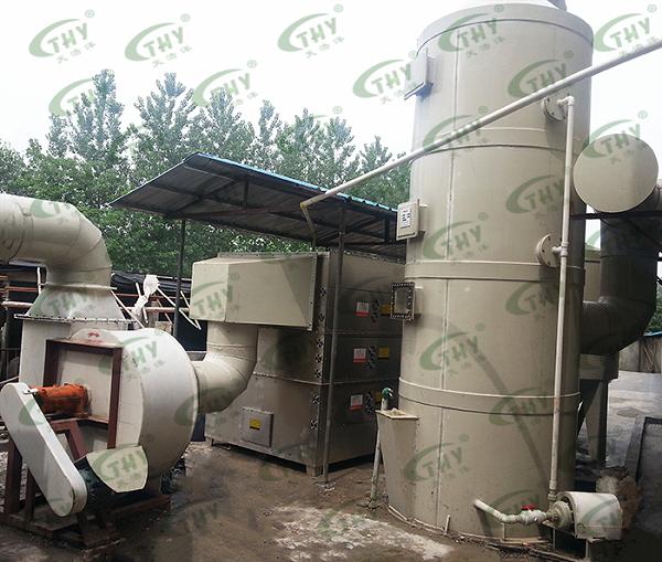 南京发尔士化工有限公司猪下水炼油产生的恶臭气体处理工程2